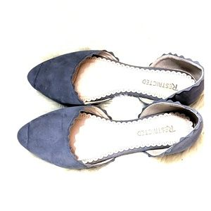 Restricted || Grey Flats w/ Scalloped Edges